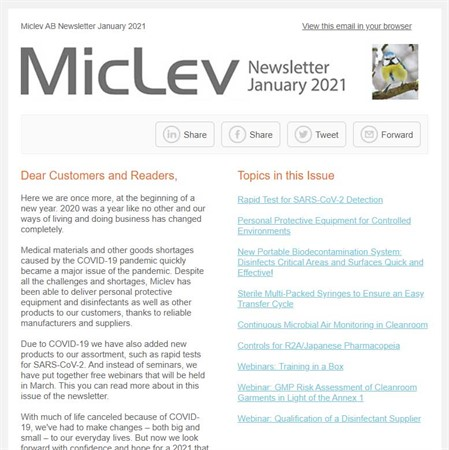 Miclev Newsletter January 2021
